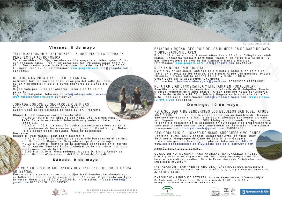IX Semana Geoparques Europeos Geoparque Cabo de Gata Níjar