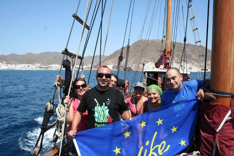 paseo en barco san jose cabo de gata life posidonia