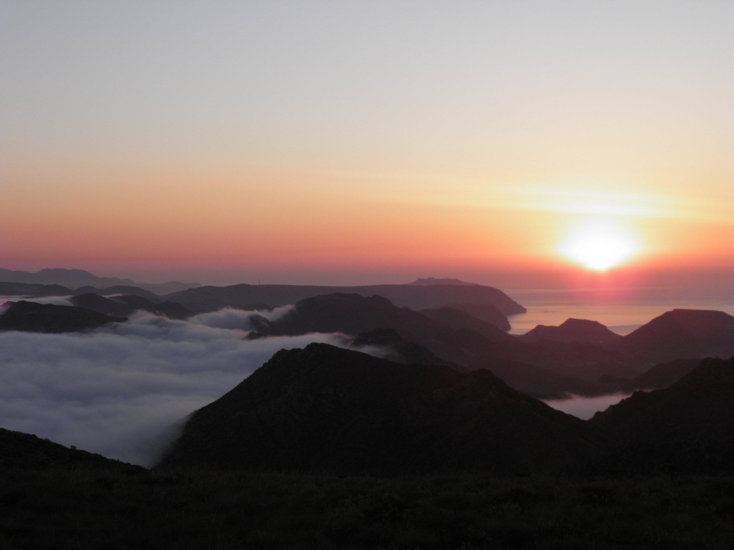 Amanecer y Niebla Parque Natural  Cabo de Gata Níjar