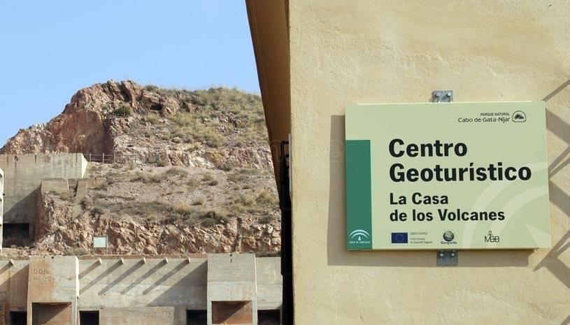 Entrada Casa de los Volcanes Geoparque PN Cabo de GAta Nijar