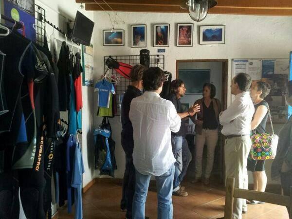 Visita Consejero de Turismo Centro de Buceo en PN Cabo de Gata Níjar