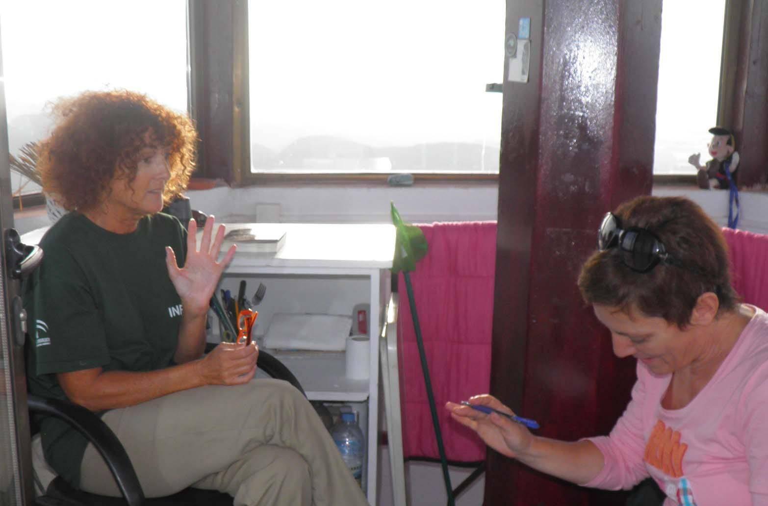 Entrevista Emilia Ferre con Carmen Fernández Peña PN Cabo de Gata Níjar