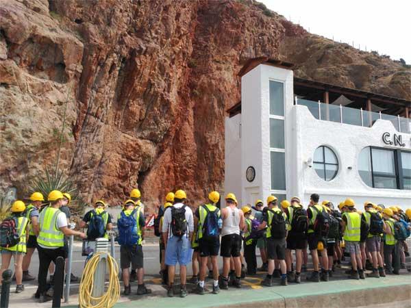 Geologos en Cabo de Gata