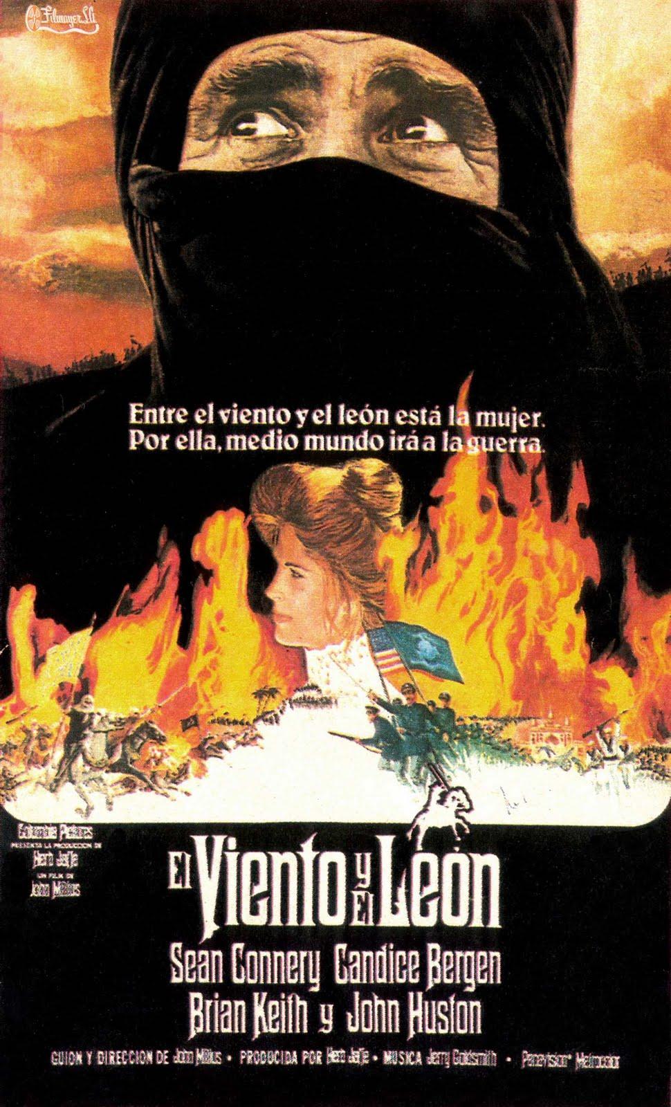 cartel de la pelicula el viento y el leon 1975