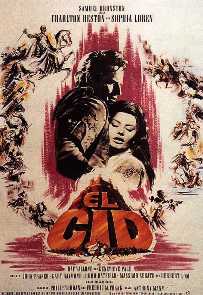 cartel de la pelicula el cid 1961