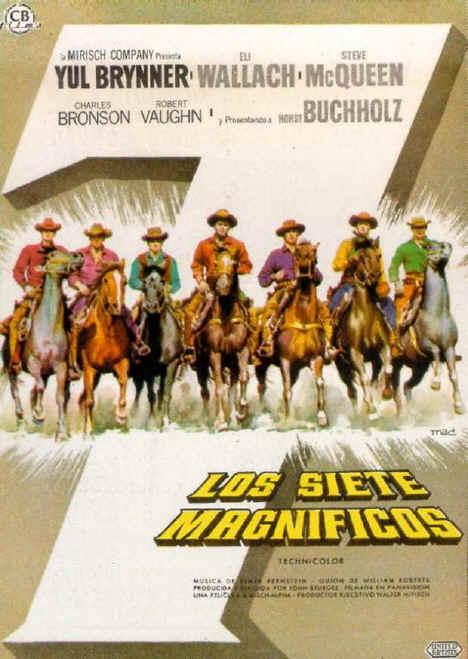cartel de la pelicula los siete magnificos 1960