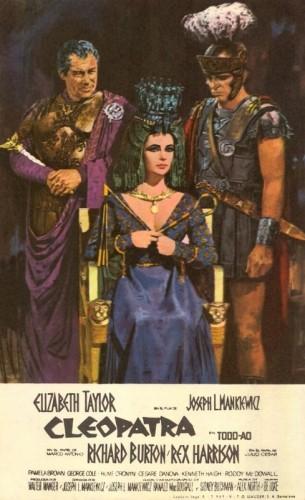 cartel del a pelicula cleopatra 1963