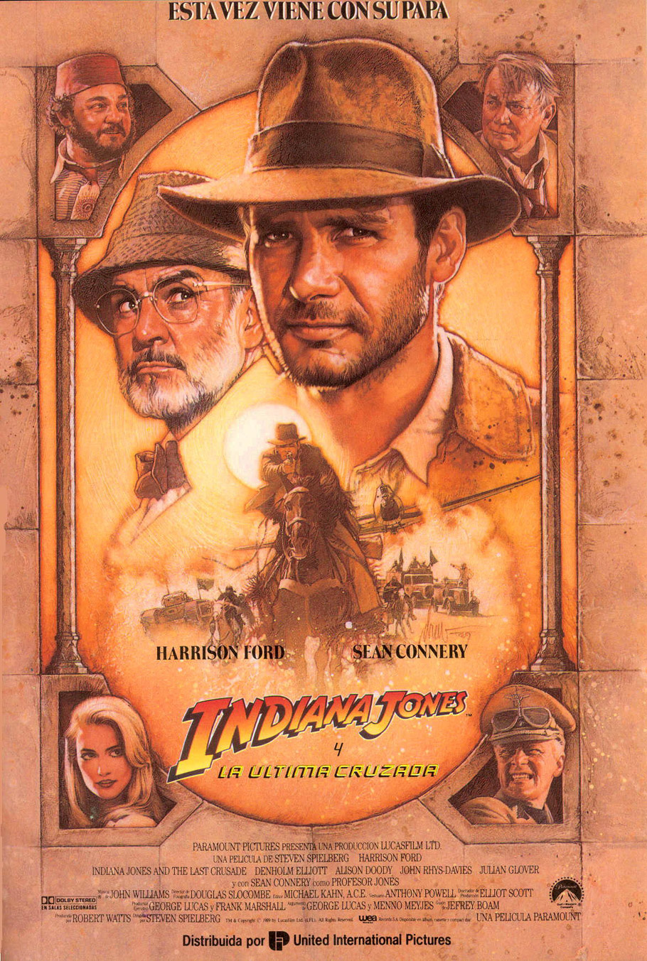 cartel de la pelicula indiana jones y la ultima cruzada 1989