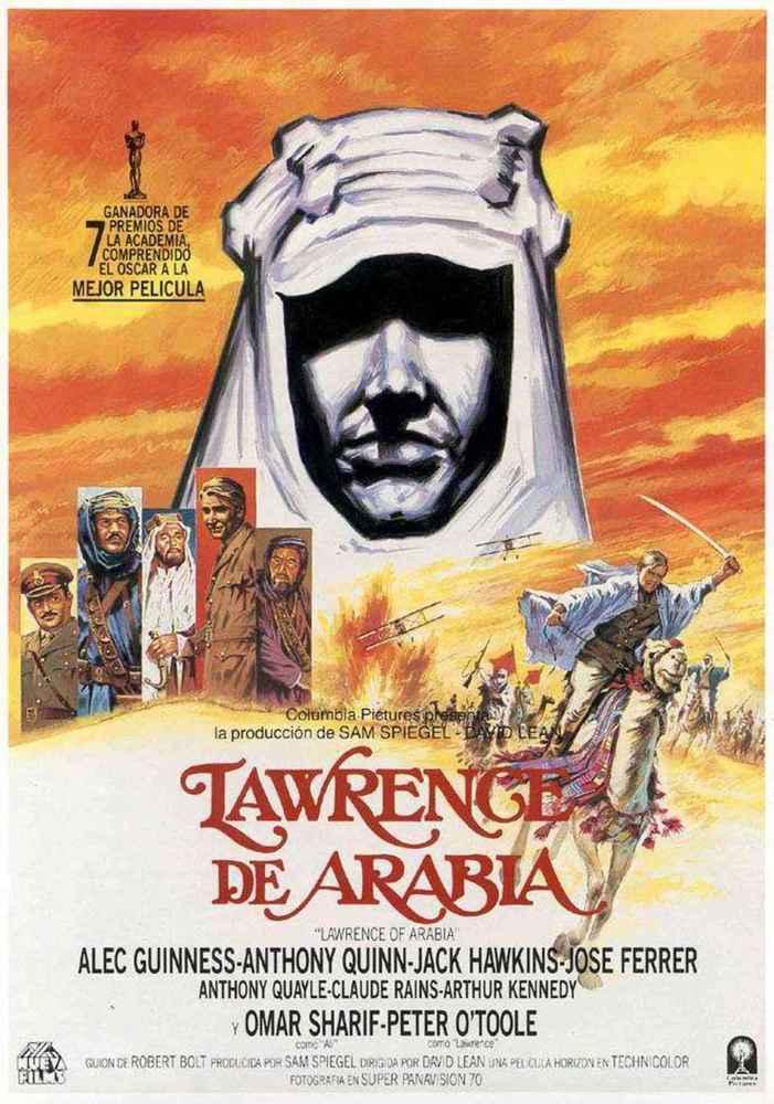 cartel de la pelicula lawrence de arabia 1962