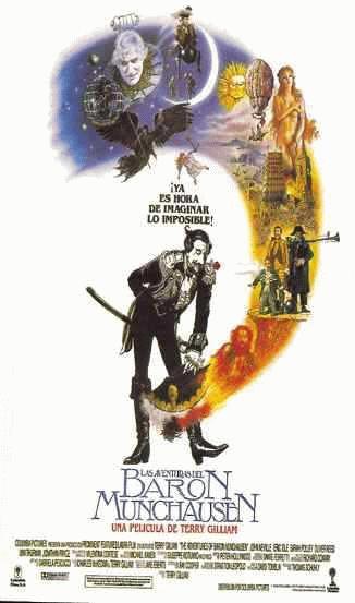 cartel de lapelicula las aventuras del baron de munchausen 1988