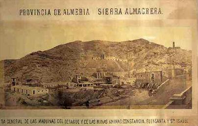 imagen representativa de la epoca minera en almeria