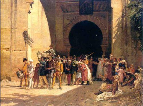 cuadro representativo de la explusion de los moriscos en andalucia
