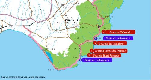 Fallas en Cabo de gata Geologia PArque Natural de Cabo de Gata
