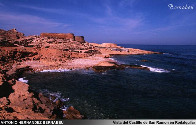 Vista del Castillo de San Ramón Rodaluilar Cabo de Gata