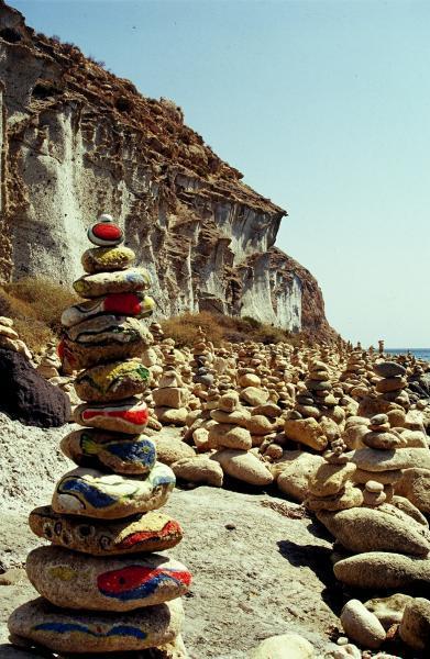 Mi típico encontrartelo  en las playas de guijarros, la gente los hace ....