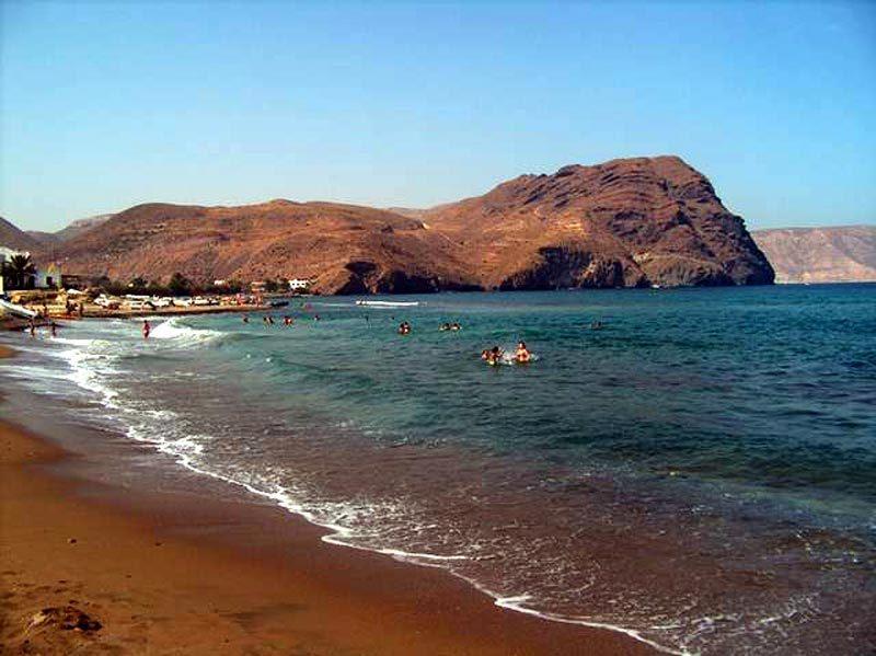 Playa de Las Negras, al fondo El Cerro Negro