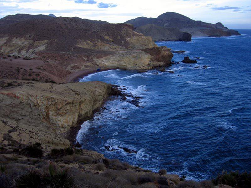 Foto desde el camino hacia el Faro del Cabo de Gata