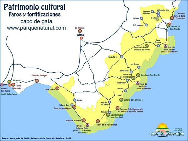 Torres Y Fortificaciones De Cabo De Gata Información Activa De Cabo De Gata Parque Natural Cabo De Gata Nijar