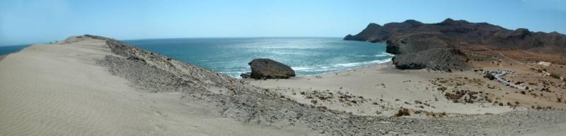 playa de monsul desde la duna