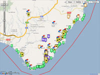 Mapas del Parque Natural de Cabo de Gata - Nijar Cabo de Gata Almeria