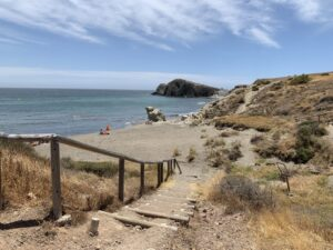 Acceso Playa Del Penon Blanco Cabo De Gata Almeria 300x225