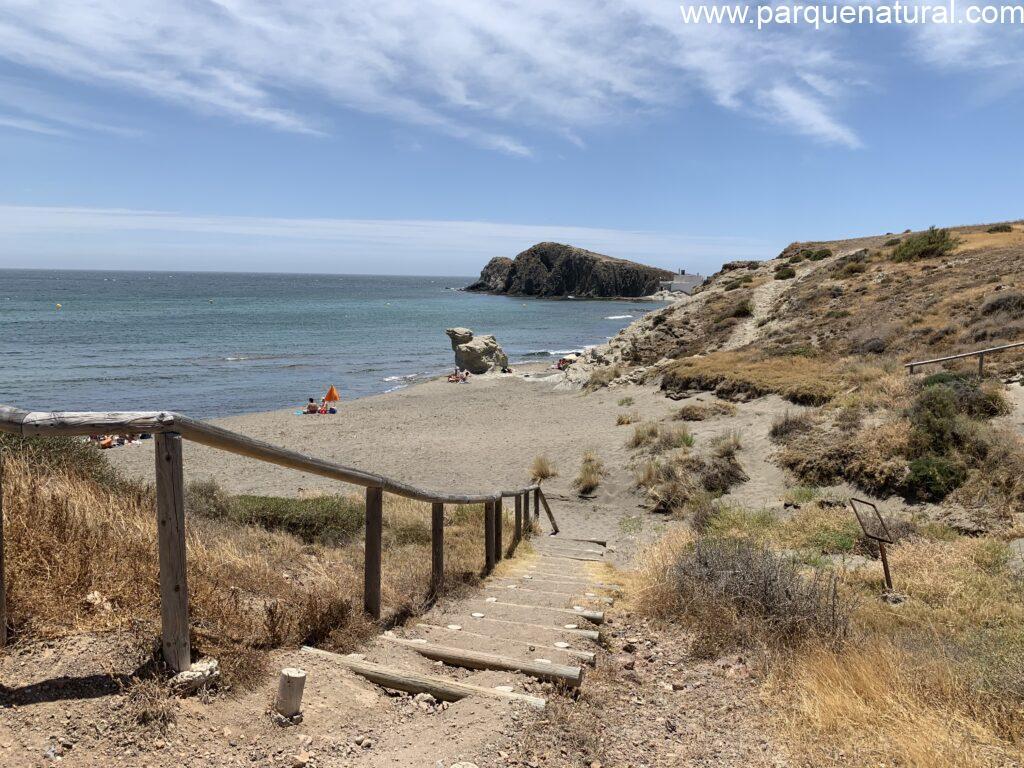 Acceso Playa Del Penon Blanco Cabo De Gata Almeria