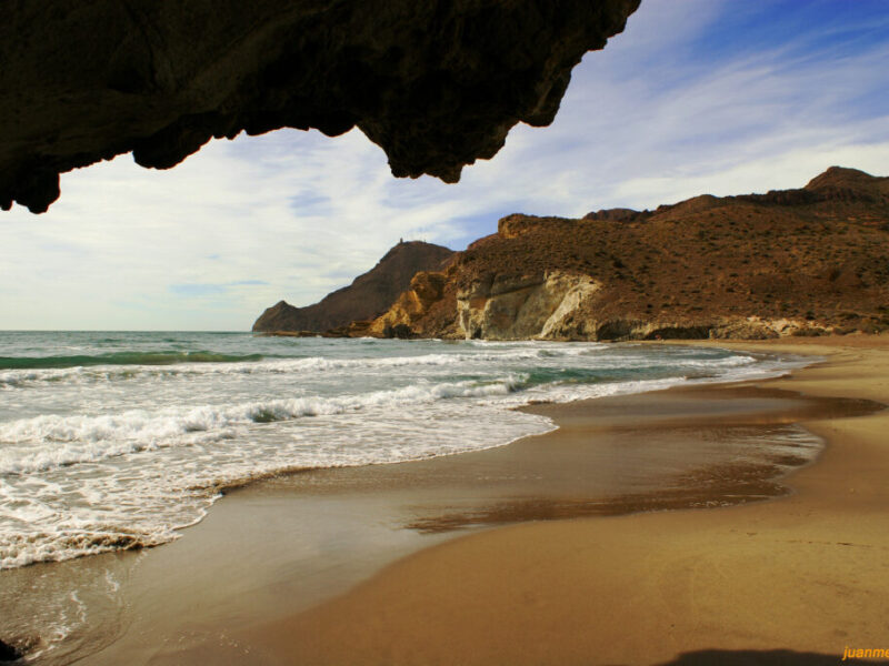 Arena Playa Medialuna Cabo De Gata Almeria 800x600