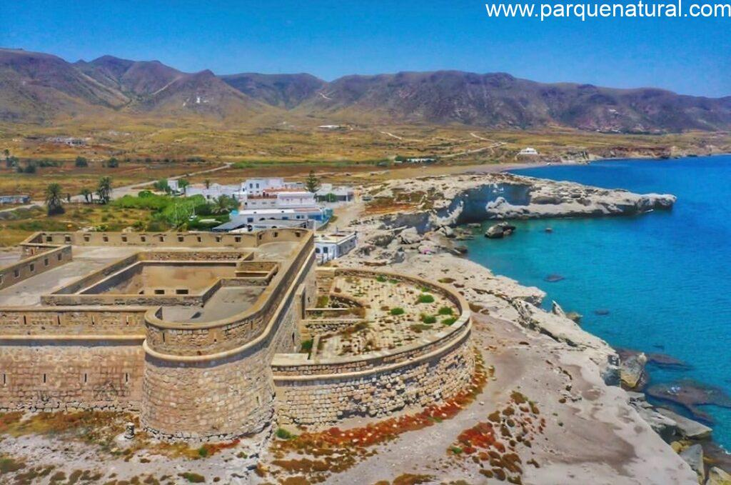 Fortificacion Costa Castillo San Felipe Los Escullos Cabo De Gata Almeria
