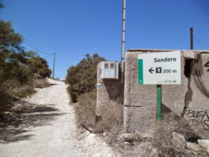 Letrero Senderismo Aguaamarga Cala Del Plomo Cabo De Gata Almeria 300x225
