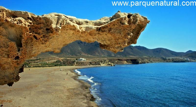 Saliente Duna Fosilizada Playa Arco Cabo De Gata Almeria