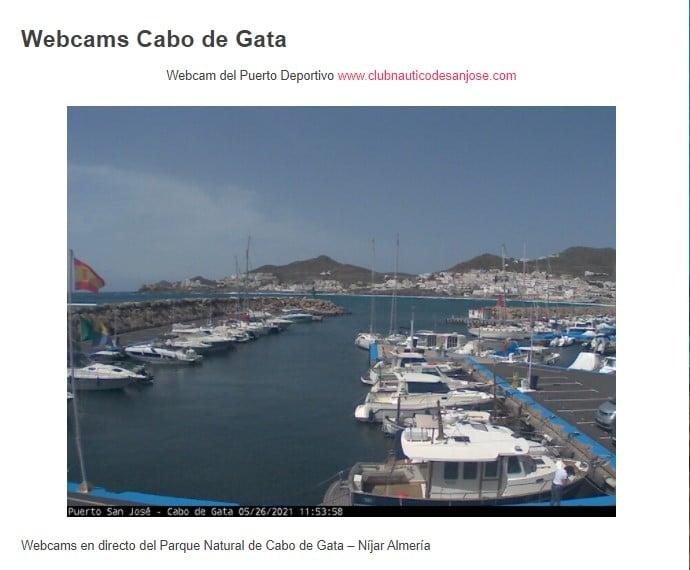 El tiempo en Cabo de Gata